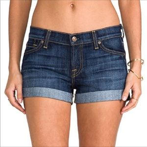 7 For All Mankind whiskered Roll Up Shorts Size 28